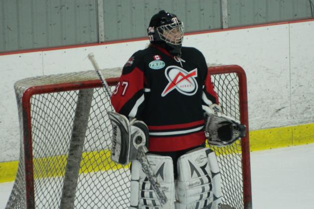 Liberty McKague Makes 28 Saves in Road Victory for Toronto Jr. Aeros