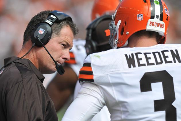 Browns Will Stick with QB Brandon Weeden Despite Bad Game vs. Redskins