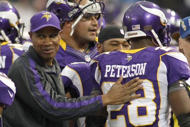 Vikings' Leslie Frazier Has Adrian Peterson's Vote for Coach of Year