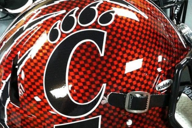 PHOTO: Cincinnati's Reported Red Helmets for Belk Bowl