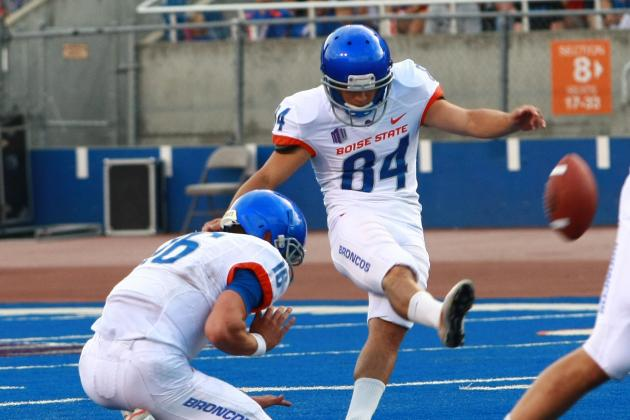 Boise State Kicker Michael Frisina Gets His First Championship Moment