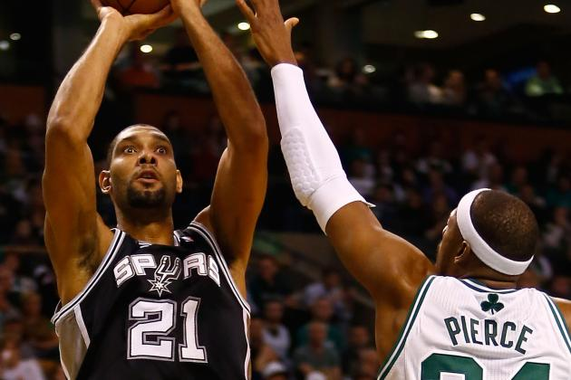 Celtics' Pierce Comments on Difficulty of Defending Spurs