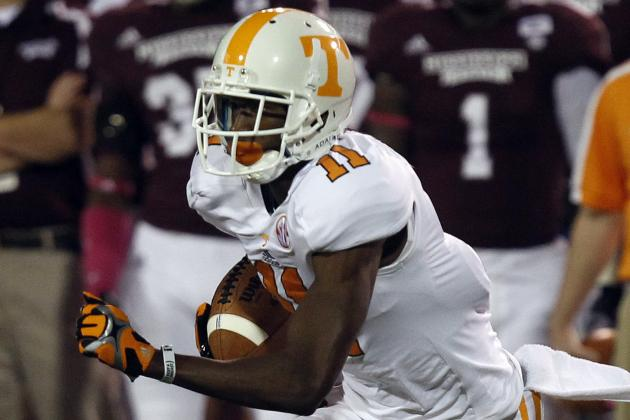 Departure of Justin Hunter Highlights Tennessee's Massive Holes to Fill