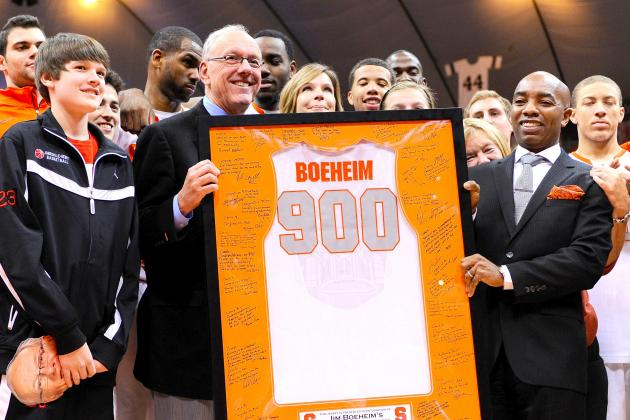 Syracuse's Jim Boeheim Becomes Third Coach to Reach 900 Wins