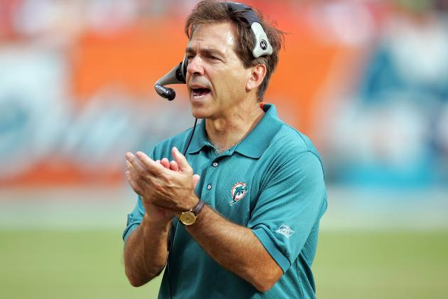 Saban talks Dolphins departure, passing on Drew Brees