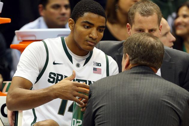 Tom Izzo Prods Michigan State Freshman Gary Harris for More Intensity
