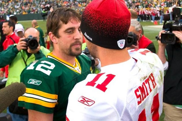 Rodgers Supports Alex Smith