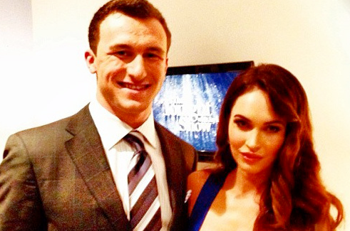 Johnny Manziel Meets Megan Fox On Tonight Show