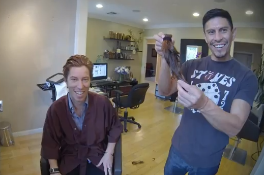 Shaun White Cuts Famous Red Hair in Goodwill Haircut for Charity