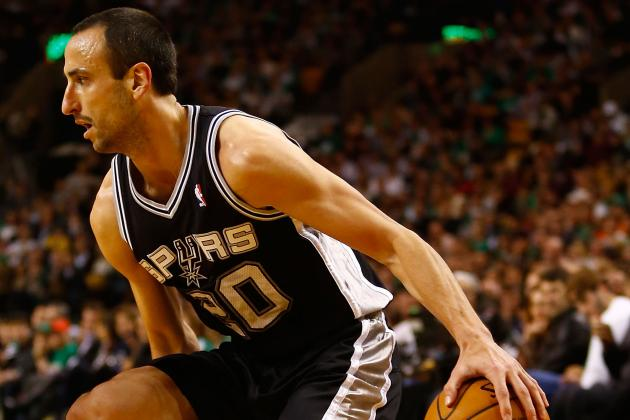 Ginobili Returns vs. Nuggets After Missing 1 Game with Quad Injury