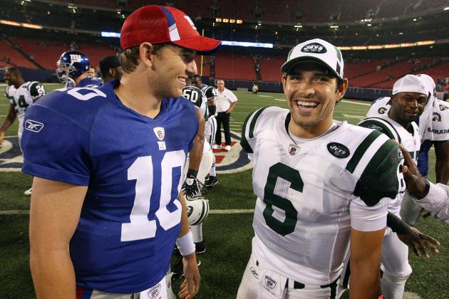 Mark Sanchez vs. Eli Manning Through First 4 Seasons: Stats Matchup Shows Equals