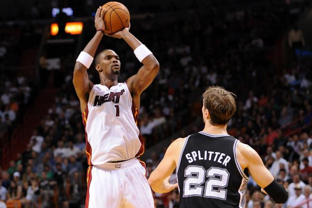 Heat Big Man Chris Bosh Shoots: And Scores - from Long Range