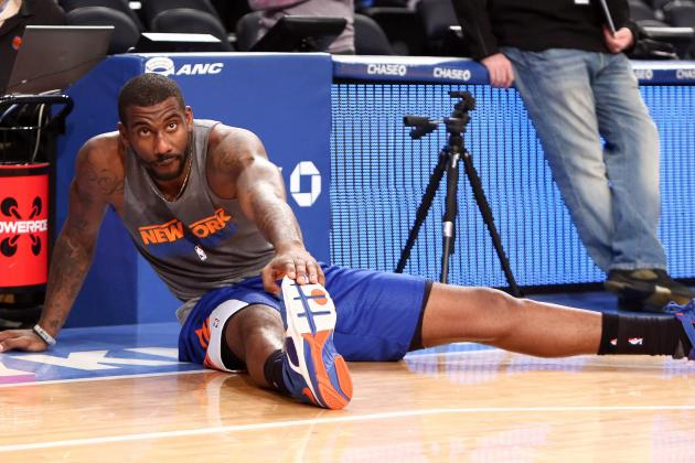 Amar'e Cautious About Return Date to NY Knicks Despite Progress in Knee Rehab