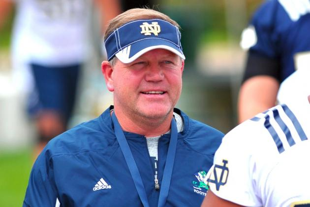 Notre Dame's Brian Kelly Wins AP 2012 Coach of the Year Award