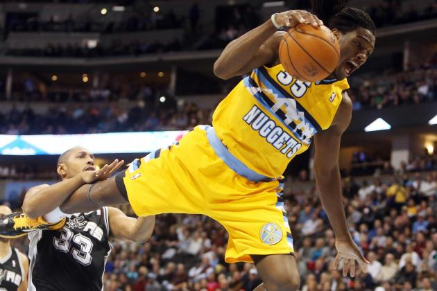 Faried Vomits on Sideline During Spurs/Nuggets Game