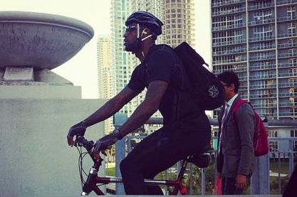 LeBron Rides Bikes to Home Games