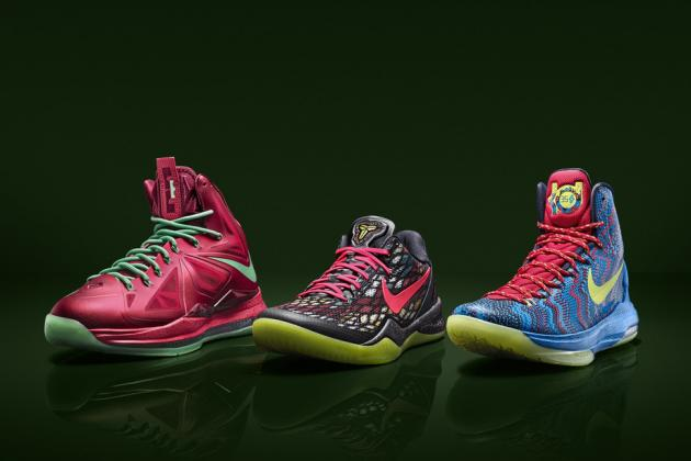 Grading Christmas Day Kicks of LeBron James, Kobe Bryant and Kevin Durant