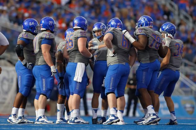 Boise State Offensive Line Overcomes Slow Start to Produce Strong Season
