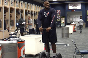Arian Foster Gives Texans O-Line Segways for Christmas