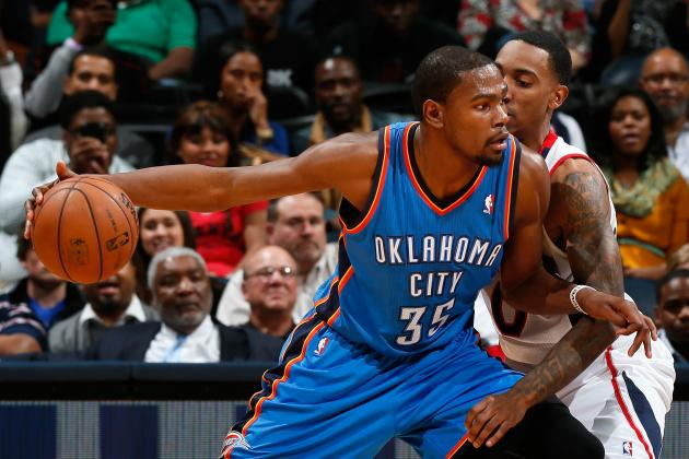 Kevin Durant Goes MVP on the Hawks, Pushes Thunder Win-Streak to 12