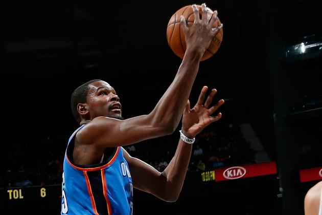 Three-Pointers: Durant Baffles Hawks, Ushers Thunder to 12th Straight Win