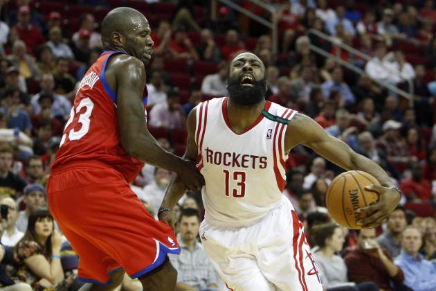 Harden Leads Rockets to Blowout Win vs. Sixers