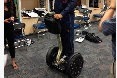Texans' Foster Rewards Linemen with Segways