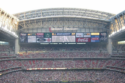 Reliant Stadium to Have Widest Video Displays in Pro Sports
