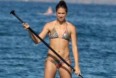 Alex Morgan Spotted Paddleboarding in Bikini, Twitter Responds in Kind