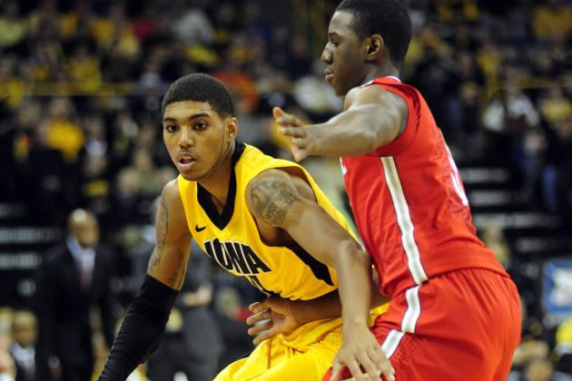 Assertive Devyn Marble Leads Iowa to 5th Straight Win