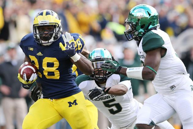 Michigan Football: Why Tailback Production Will Be Vastly Improved in 2013