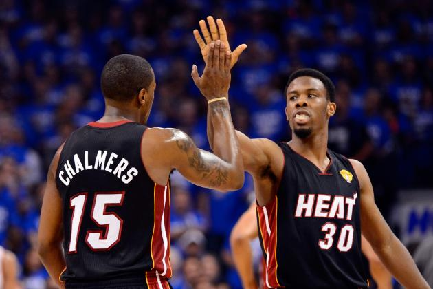 On Point: Miami Heat's Mario Chalmers and Norris Cole Both...