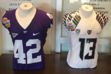 Oregon's Fiesta Bowl Jerseys Unveiled