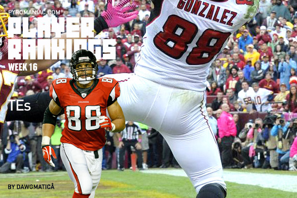 Fantasy Football 2012: Week 16 Rankings for the Top 32 Tight Ends