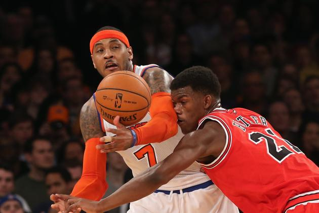 Carmelo Anthony, Mike Woodson, Tyson Chandler Ejected in Loss to Bulls