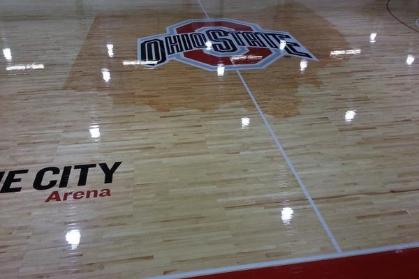 PHOTOS: New Ohio State Basketball Court Includes Silhouette