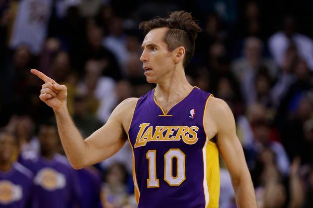 Steve Nash Returns in Wild Lakers Win