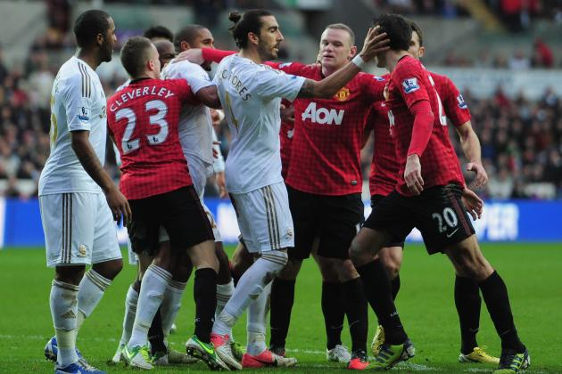 Sir Alex Ferguson Claims Swansea Player Could Have Killed Robin van Persie