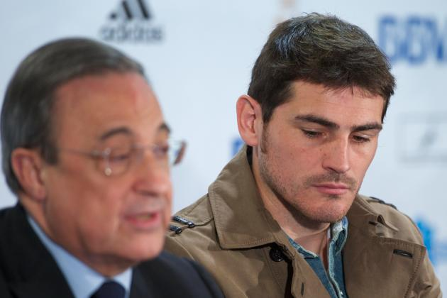 Video: The Moment Florentino Perez Realises Iker Casillas Has Been Dropped