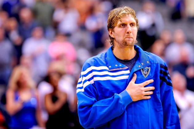 Dirk Nowitzki Returns to Dallas Mavericks Lineup vs. Spurs