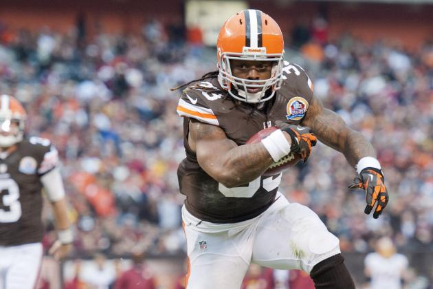Trent Richardson Suffers Ankle Injury vs. Broncos