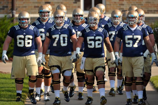 ND O-Line Taps D-Line for Advice When Preparing for Alabama, Says Mike Golic Jr.