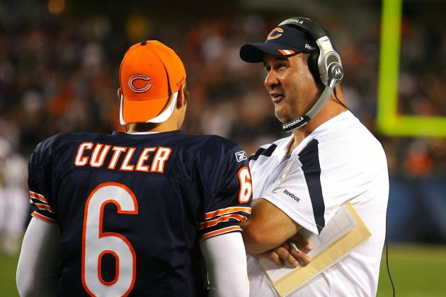Jay Cutler Backs the Job of Bears Offensive Coordinator Mike Tice