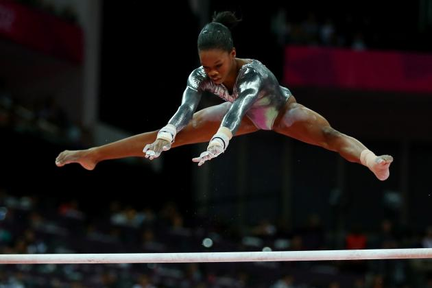 Gabby Douglas Fails to Medal in 2012 Olympic Women's Gymnastics Uneven Bars