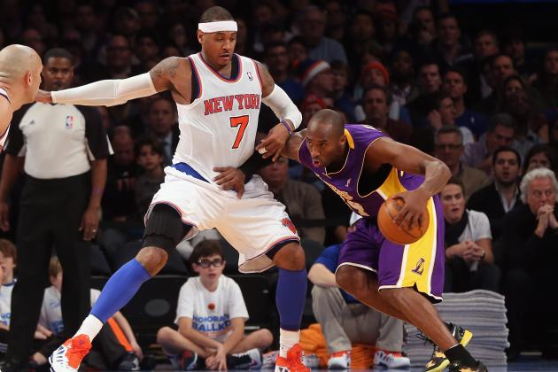 Knicks vs. Lakers Reveals Old and New Drama with Carmelo Anthony and Kobe Bryant