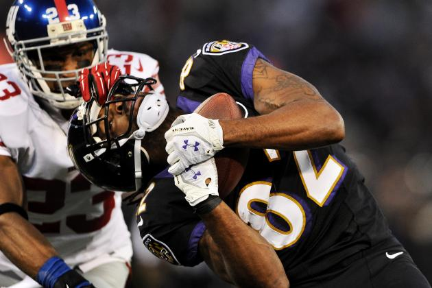 Corey Webster Has Rough Day Defending Ravens' Wideouts