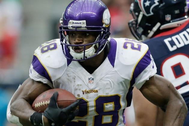 Peterson 'sore' but Likely to Play Sunday