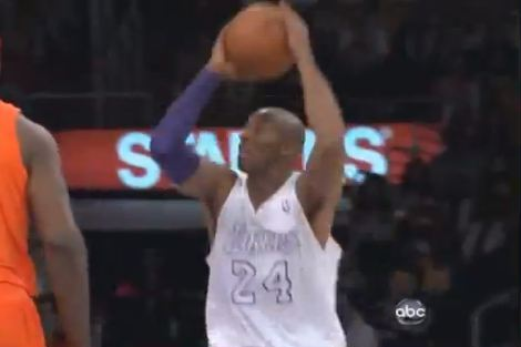 Video: Kobe Makes Acrobatic Reverse Layup