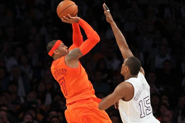 Knicks Fall to Lakers as Melo Has Quiet Fourth Quarter