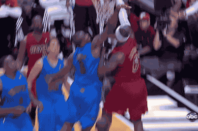 LeBron with the Nasty Putback Dunk